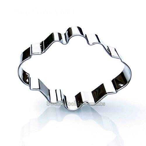 - Oval Plaque Frame Cookie Cutter- Stainless Steel