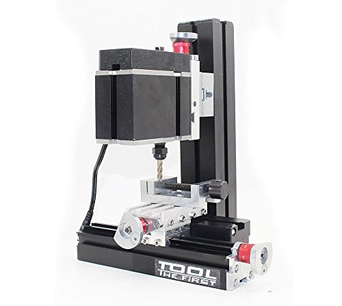 High Power Metal Mini Lathe DIY Micro Milling Machine Mill 12000rpm 60W with Adapter by top-tool