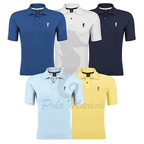 Kit 05 Camisetas Gola Polo - Polo Marine (Kit 10, G)