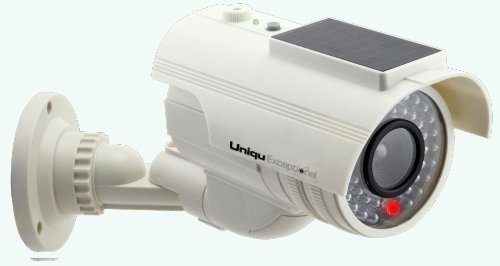 UniquExceptional UDC9white Solar Powered Fake Dummy Security Camera by UniquExceptional