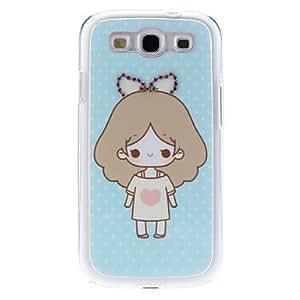 Cute Girl Pattern Hard Case with Rhinestone for Samsung Galaxy S3 I9300