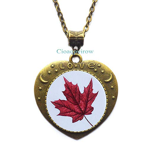 Cioaqpyirow Maple Leaf Necklace,Maple Leaf Pendant,Maple Leaf,Wedding Jewelry,Grad Gift,Wedding Necklace,Maple Leaf,HO0E284 -