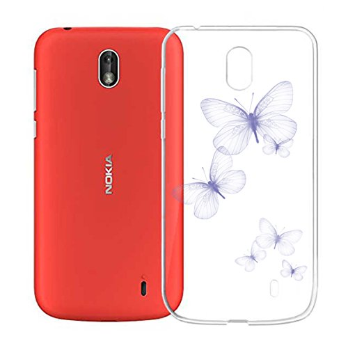 Funda para Nokia 1 , IJIA Transparente Sencillo pausas Musicales TPU Silicona Suave Cover Tapa Caso Parachoques Carcasa Cubierta para Nokia 1 (4.5) WM106