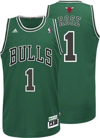 quality design caf47 78607 Amazon.com : Derrick Rose adidas Green St. Patrick's Day ...