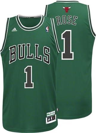 Adidas Chicago Bulls Derrick Rose St Patricks Swingman Jersey, Verde