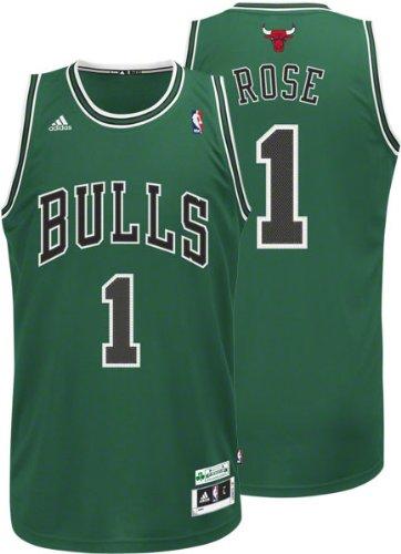 Derrick Rose adidas Green St. Patrick s Day Chicago Bulls Swingman Jersey 9b9984af4