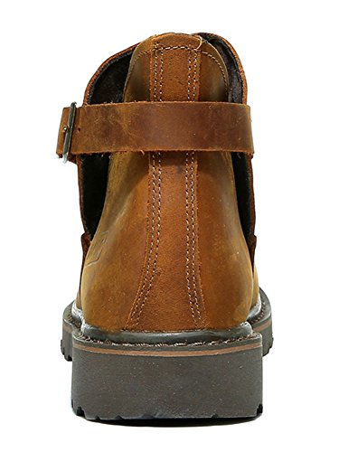 Camel Work Boots Men's Insun Horse Crazy Strap Leather 0cPYwq