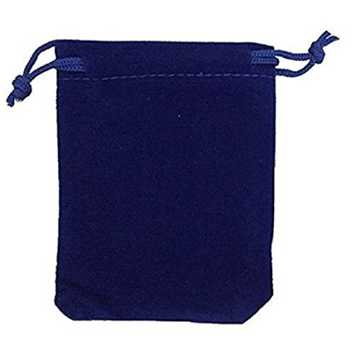 KUPOO 50 Pieces Wholesale Lot - Royal Blue Velvet Cloth Jewelry Pouches / Drawstring Bags 4