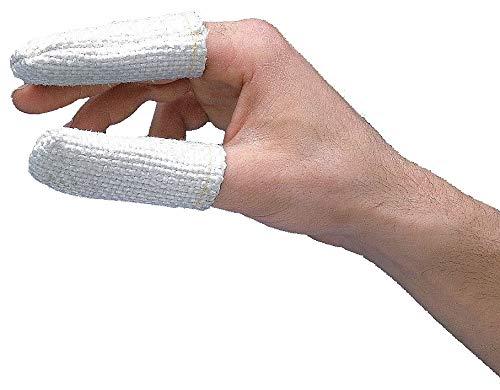 Zetex Heat Resistant Finger Cots, White, 100% Premium Zetex Texturized Fiberglass, Size One Size Fits All - 2100004