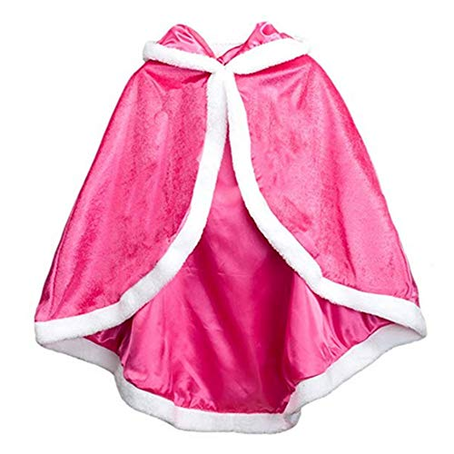 Cleana Arts Girls Cape Christmas Princess Hooded Cape Cloak -