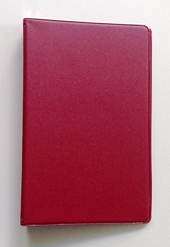 Mead (46000) Mini 6-Ring Red Memo Book, with 3 x 5 inch Lined Paper -