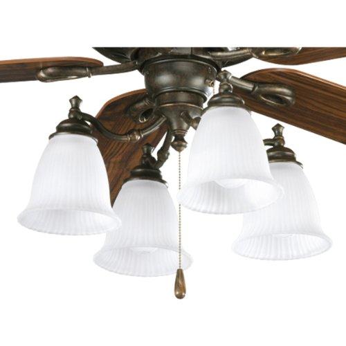 Progress Lighting P2625-77 4-Light Fan Light Kit, Forged Bronze -
