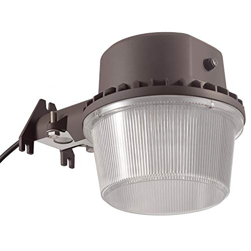 (TORCHSTAR Dusk-to-Dawn LED Outdoor Barn Light (Photocell Included), 35W (250W Equiv.), 5000K Daylight Floodlight, DLC & ETL-Listed Yard Light for Area Lighting, 5-Year Warranty, Bronze)