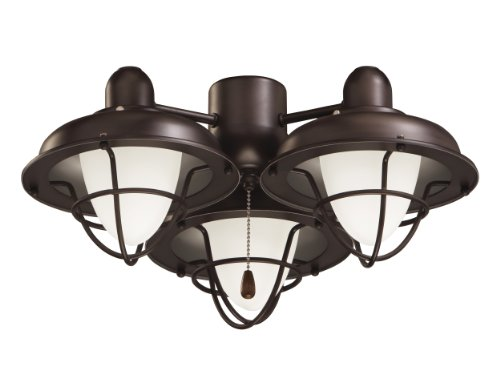 Emerson Ceiling Fan Light Fixtures LK40ORB Boardwalk Cage Ceiling Fan Light Kits,  Medium Base CFL Light Kit,  Oil Rubbed Bronze Ceiling Lamp ()