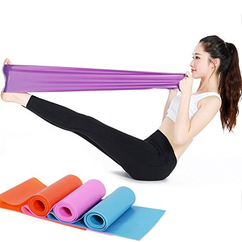 S&M TREADE-1.5m Elastic Yoga Pilates Rubber Stretch Resistance Exercise Fitness Band Sport - Style Pregnancy Blog