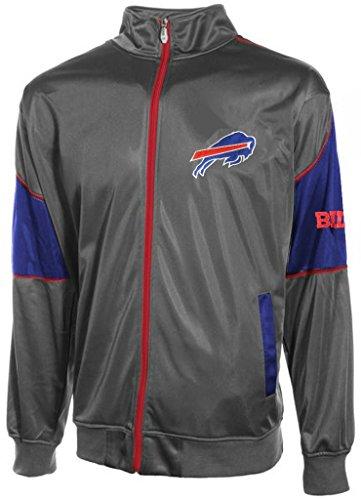 Buffalo Bills Mens Full Zip Tricot Charcoal Track Jacket Big & Tall Sizes (2XL) ()