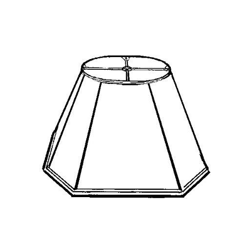 Royal Designs BS-733UT-8EG Hexagon Basic Lamp Shade Eggshell UNO Table Lamp 4 x 8.5 x 6.5