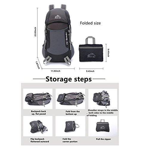 mataga 3Stück Kombination leicht wasserdicht faltbar Reise Rucksack & Outdoor Survival Armband & Outdoor wasserdichte Tasche, Wandern/Camping/Wandern/Sets (jhfxl36-pink)
