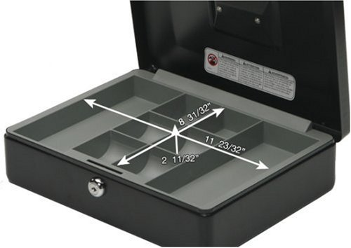 SentrySafe Cash Box, Locking Cash Box With Money Tray, Medium, CB-12