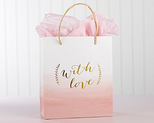 60 With Love Pink Watercolor Gift Bags