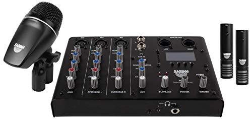 Sabian Sound Kit Drum Mic and Mixer Pack, Black, Regular (SSKIT)