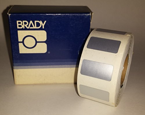 Brady CL-311-969 I.D. PRO Plus LS2000 And BradyMarker 1/2 Height, 1 Width, B-969 Metalized Polyester Silver Color XC Plus Printer Label (500 Per Roll) by Brady