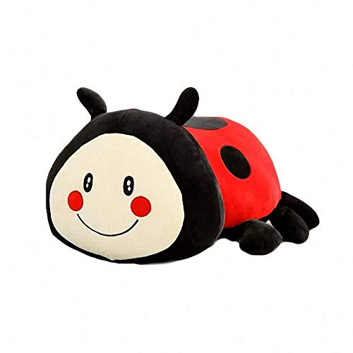 Cute Ladybug Plush Pillow Soft Stuffed Animal Play Doll Baby Hugging Toy Sleeping Bolster Pet Throw Pillow Bed Sofa Nap Cushion Nursery Office Home Decor Gift for Kids Boy Girls ()