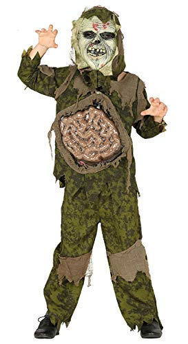 Boys Teens Creepy Scary Dead Corpse Walking Zombie Halloween Fancy Dress Costume Outfit With Mask 5-12 Years (5-6 Years) ()
