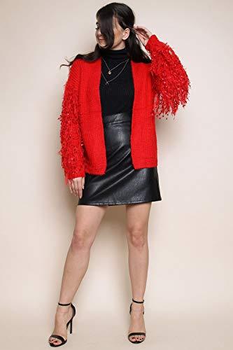 Amp;ayat Warm Rouge Cardigan 8 Tassel 14 Momo Sleeve Knitted Size Uk A5qj34RL