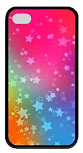 iphone 4S discount cases patterns abstract colors star 24 TPU Black for Apple iPhone 4/4S