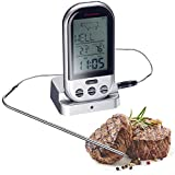 Westmark Digital Wireless Roasting Thermometer, Aluminium Black/Silver, 13 x 7.6 x 5.5 cm