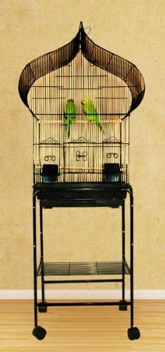Cage Stands Hanging - NEW Oriental Top Canary Parakeet Cockatiel LoveBird Finch Bird Cage With Stand - 18