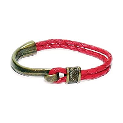 AUTHENTIC HANDMADE Leather Bracelet, Men Women Wristbands Braided Bangle Craft Multi [SKU003052]