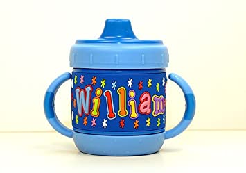 cdeb5a58f73 Amazon.com : Personalized Sippy Cup: William : Baby Drinkware : Baby
