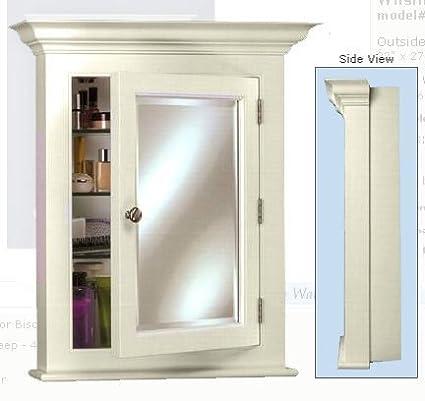 Admirable Amazon Com Wilshire 2 Wood Medicine Cabinet In White Finish Interior Design Ideas Philsoteloinfo