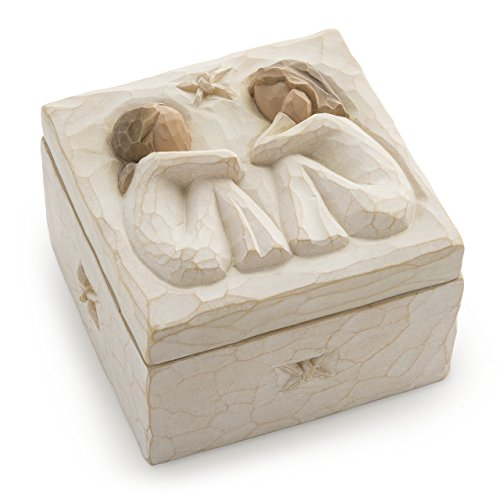 Design Hand Painted Collectible - Willow Tree Friendship, sculpted hand-painted keepsake box