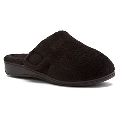 Orthaheel Gemma Slipper Womens Size 5 Black Textile Scuffs Shoes