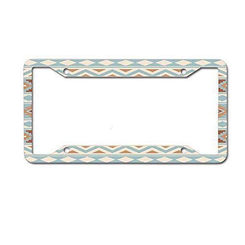 - Cusomcardphone Aztec Essence Pattern Iiib Blue Cream Terracottas Vintage License Plate, Life Graphic, High Gloss Aluminum Novelty Plate, 12X6inches 4 Holes.