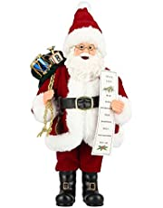 ZOGIN Christmas Santa Claus Standing Figure Christmas Decoration Ornament Holiday/Party/Home Decoration, 28cm