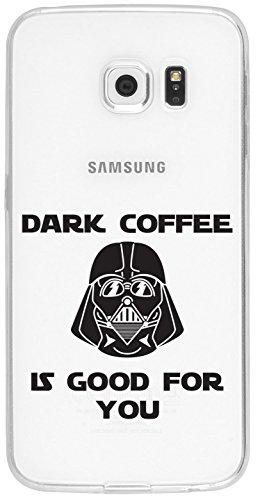 Samsung S6 Edge Caso por licaso® para el patrón de Samsung S6 Edge TPU never give up Motivación Lucha de silicona ultra-delgada proteger su Samsung S6 Edge es elegante y cubierta regalo de coches Dark Coffee