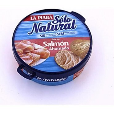 (Smoked Salmon Pate 77g Tin Spanish Tapas Salmon Terrine Paste Paté Natural No Preservatives or Colorings)