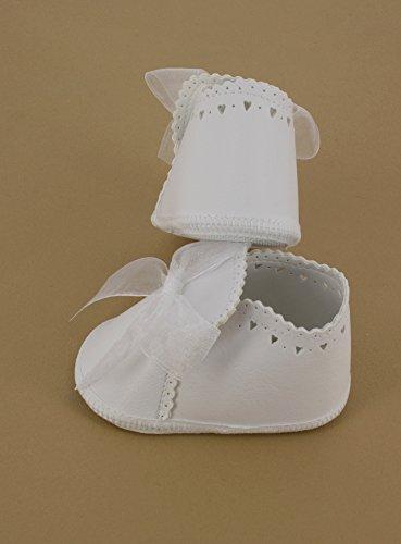 Baby-Taufe Pantoffeln weiße Band Mädchen Weiß - weiß
