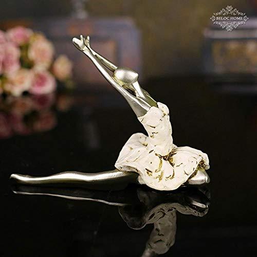 Maerye Dance Ballet action Beautiful girl home decoration resin handmade Crafts by Maerye