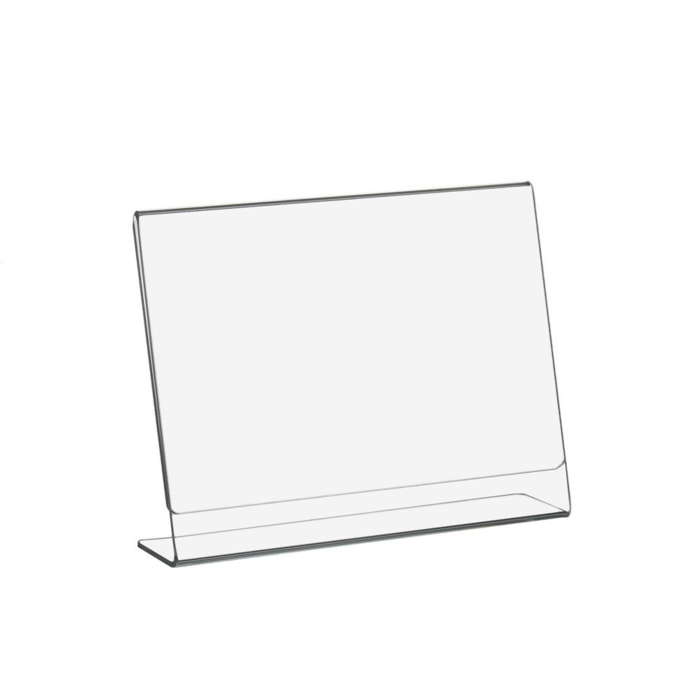 DIN A6 l de atril/expositor horizontales de vidrio acrílico ...