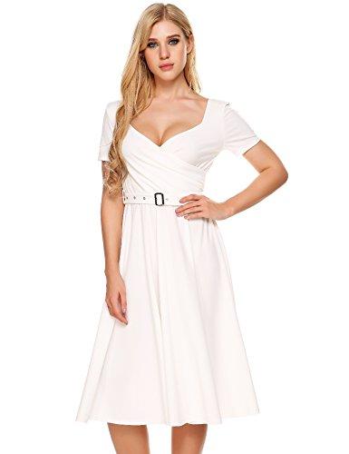 Buy beautiful short sleeve wedding dresses - 9