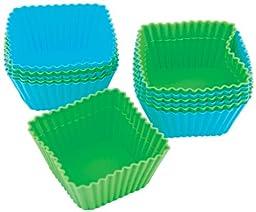 Wilton Square Silicone Baking Cups, 12 Count