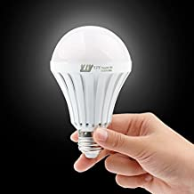 YJY Rechargeable Emergency LED Light Bulb A19 Lamp - Still Work After Power Outage - 9W 6500K E27 E26 110V 120V 220V - 2 Pack