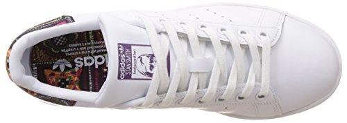 adidas Stan Smith W, Basket Femme Blanc (Footwear White/Footwear White/Mid Grey)