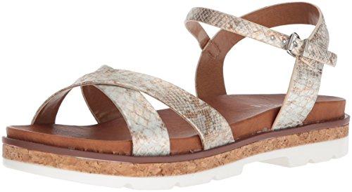 Volatile Women's Petite Sandal, White/Multi, 8 M (Snakeskin Thong Sandals)