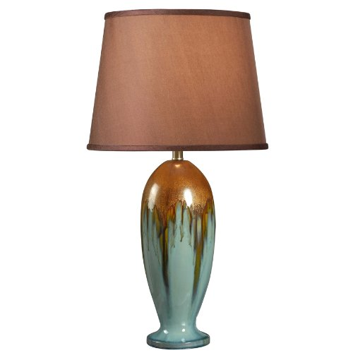 (Kenroy Home 32366TEAL Tucson Table Lamp, 32